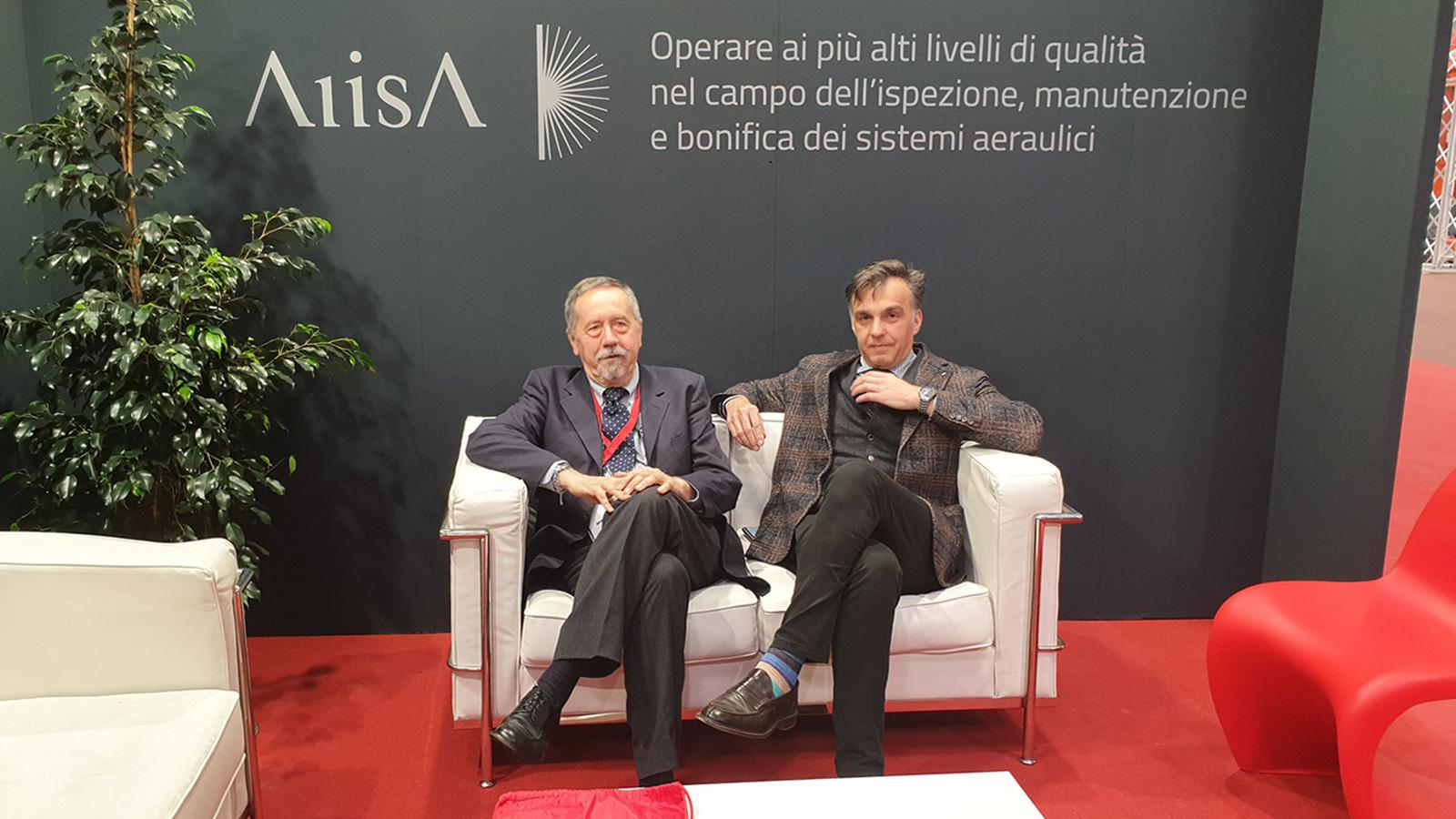 Ing. Raffaele Caruso – Segretario Generale AIISA e Ing. Gregorio Mangano – Presidente AIISA